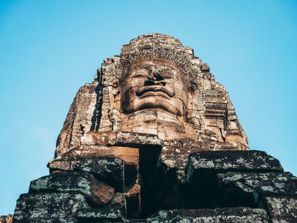 escultura de Buda del templo Bayon
