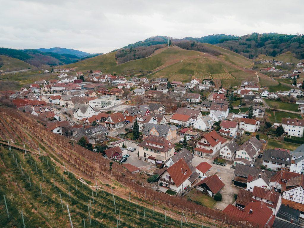 panorámica de la ciudad de Durbach