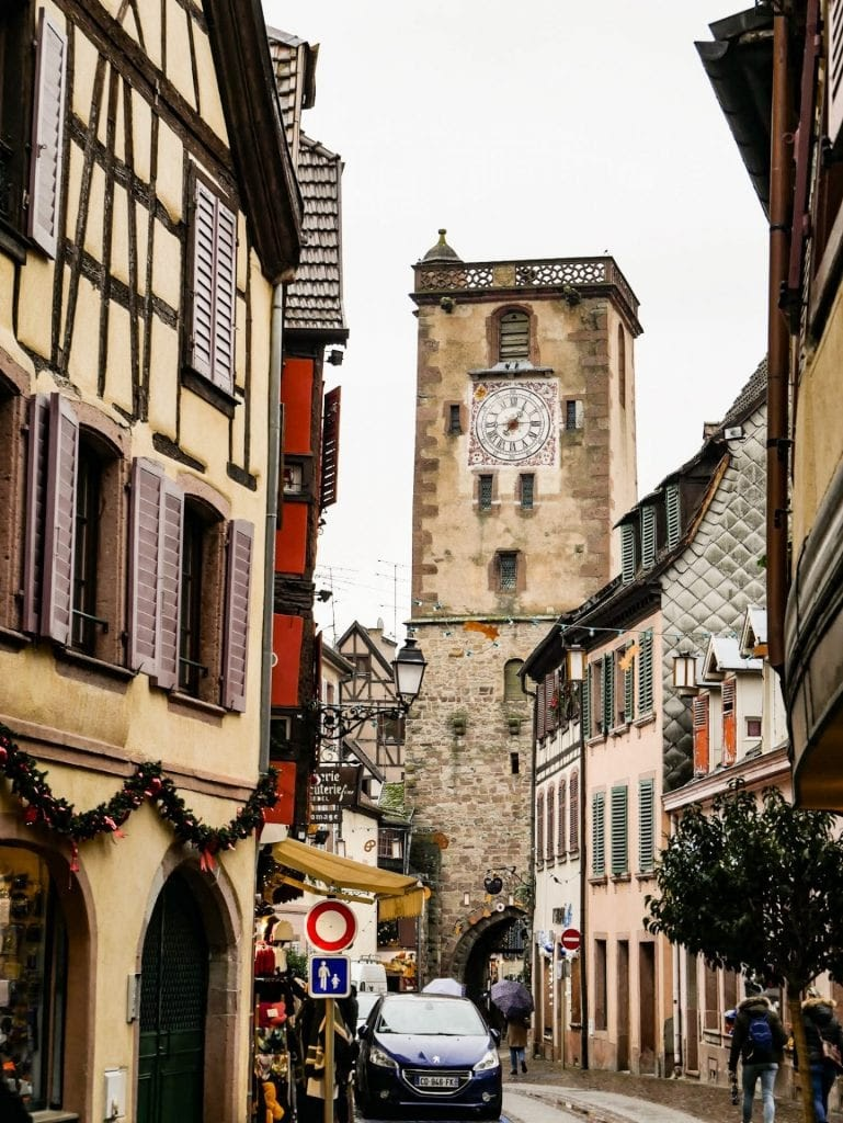 torre des Bouchers en Ribeauville en Alsacia