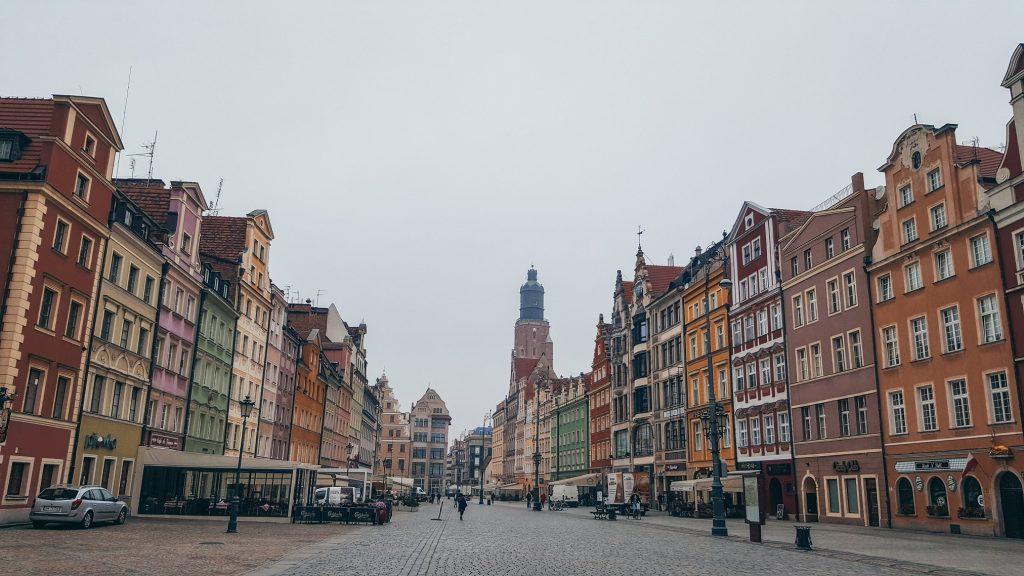 edificios de la plaza de Breslavia
