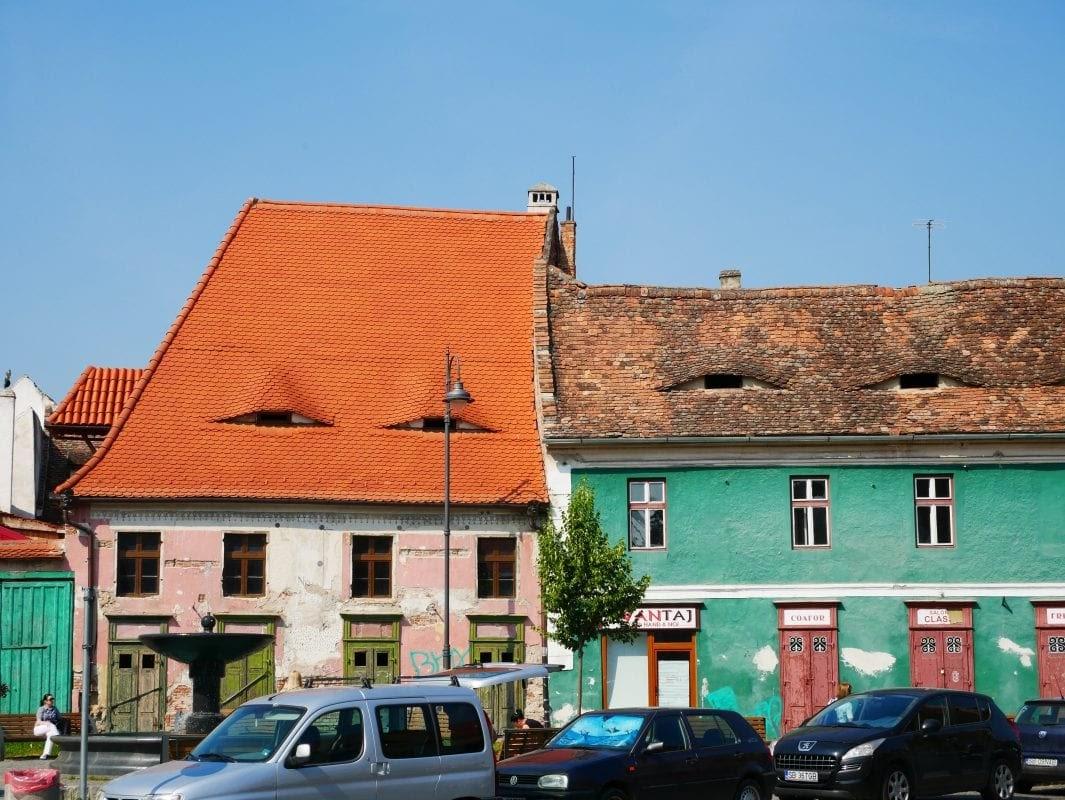 casad típicas de Sibiu