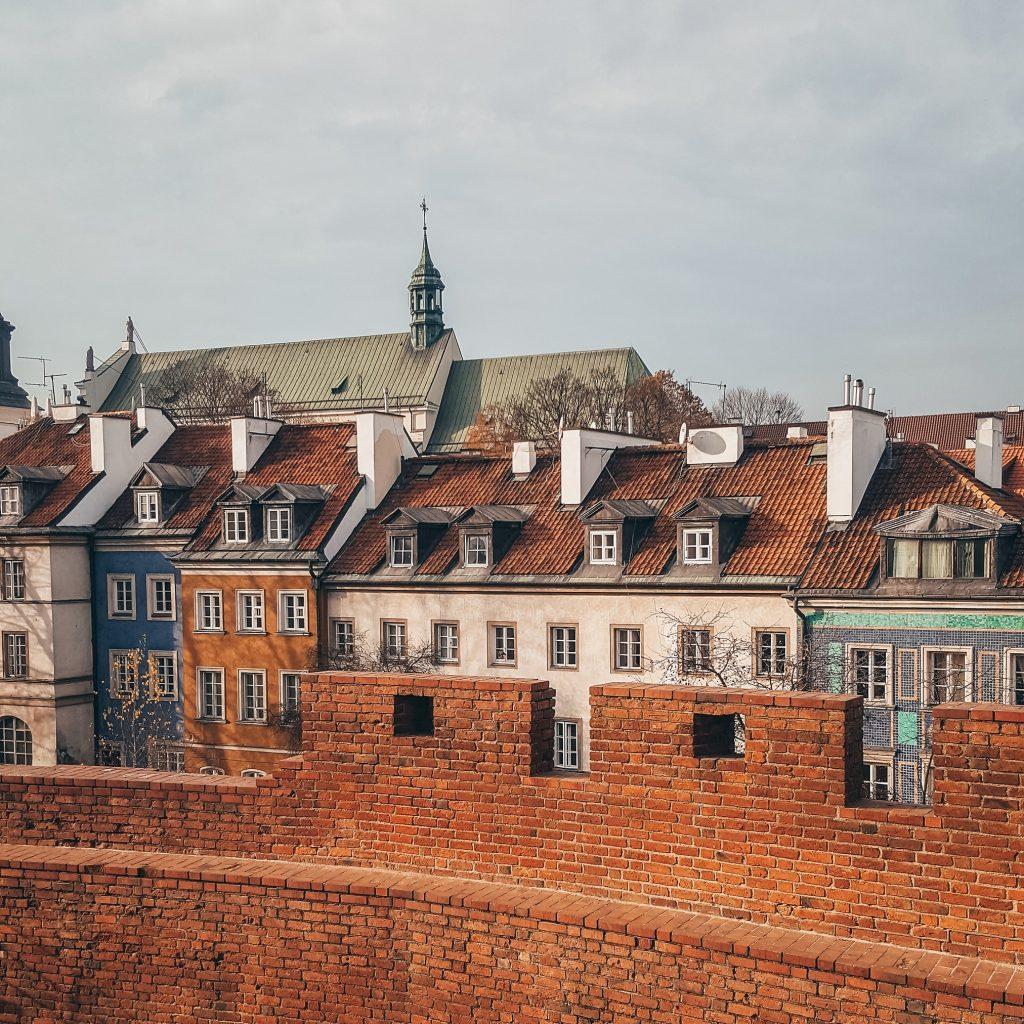casas de varsovia del centro histórico en Polonia