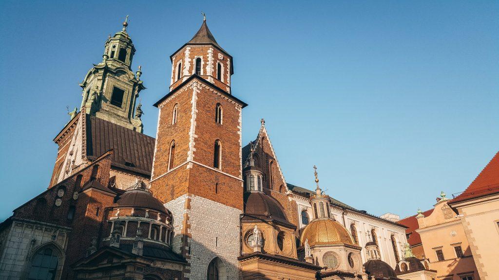 castillo de Wavel de Cracovia en Polonia
