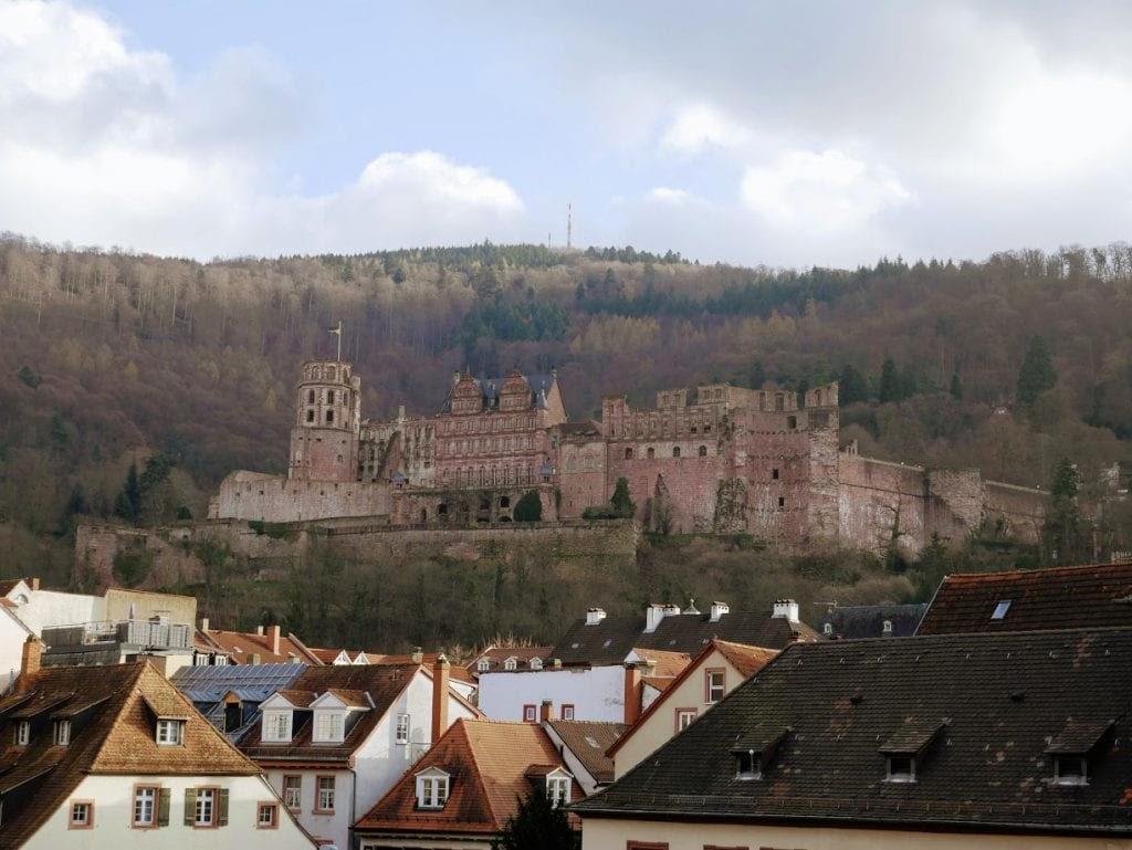 panorámica del castillo de Hidelberg