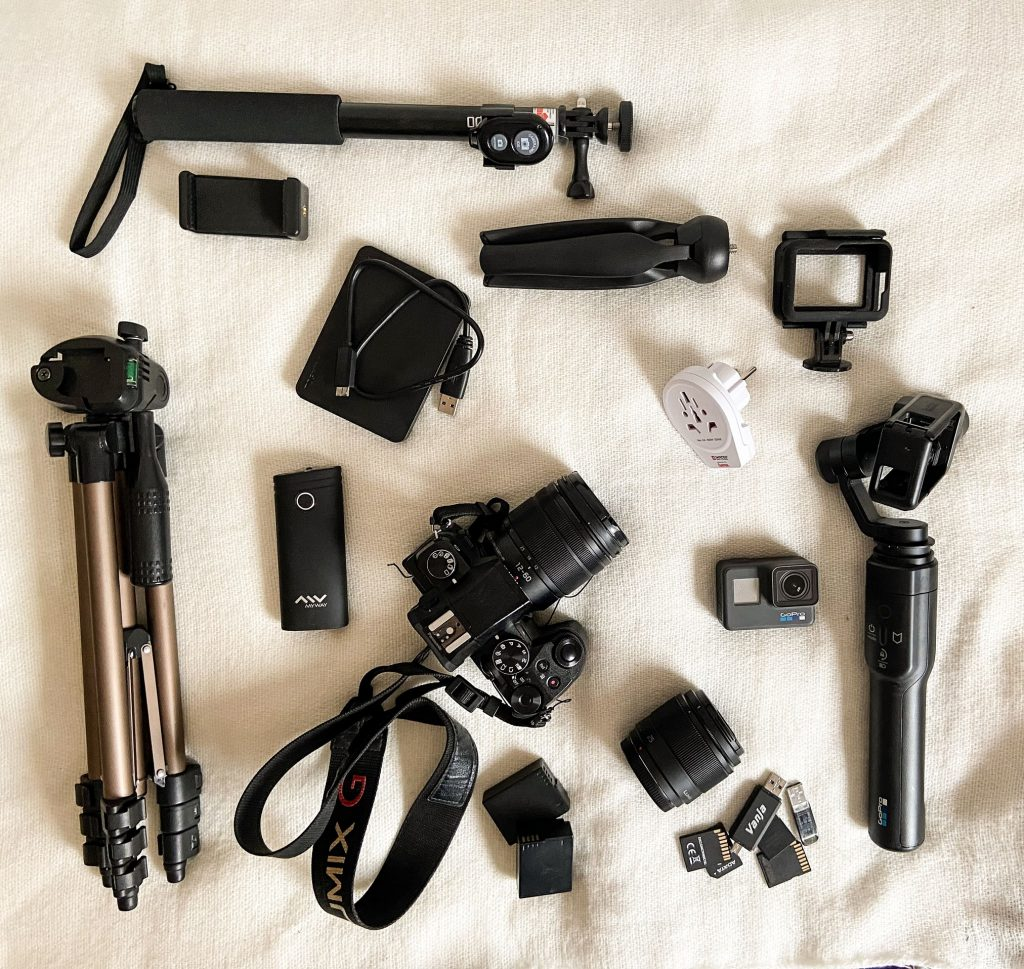 material fotográfico para un viaje largo