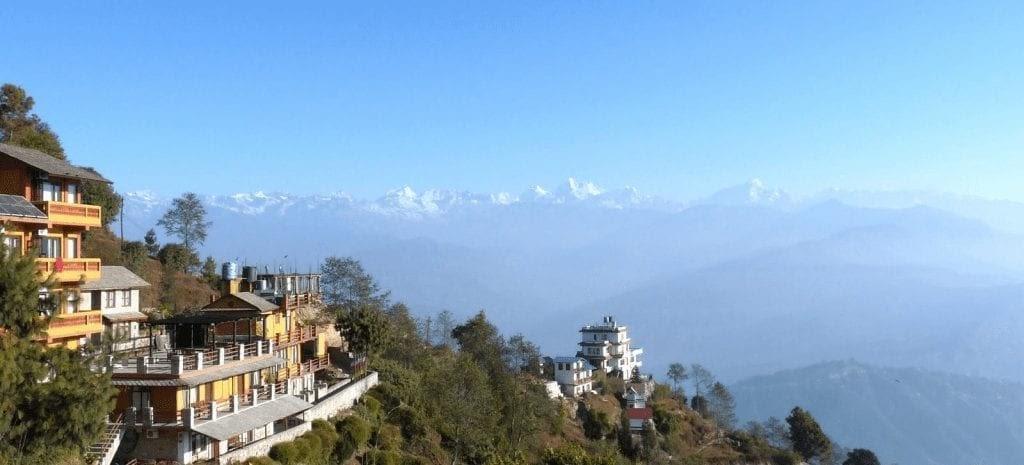 vista panorámica del la cordillera del Himalayas