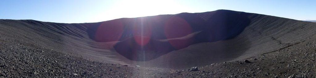 cráter del volcán Hverfjall