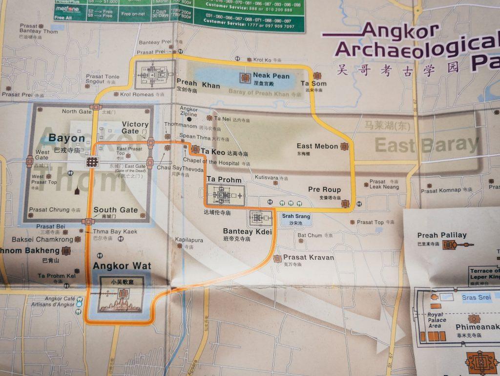 plano para visitar los templos de Angkor Wat