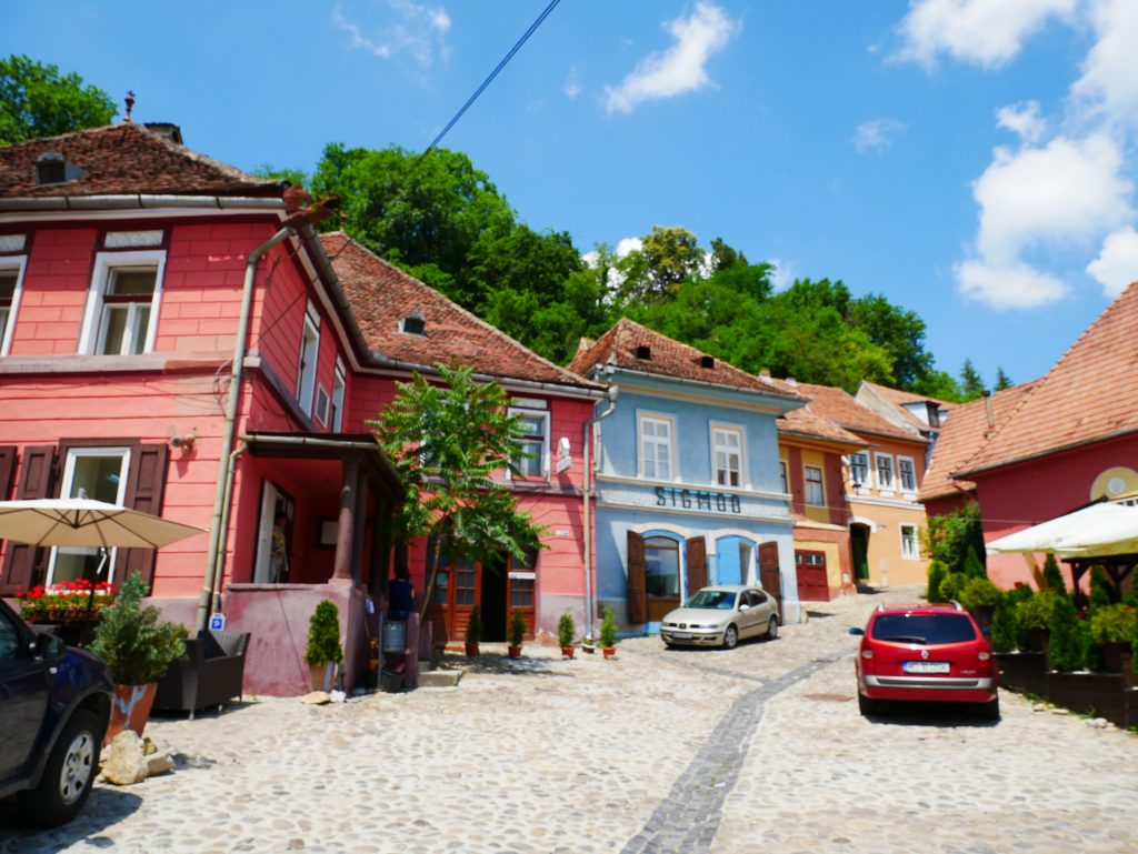 casitas de colores de Sighisoara