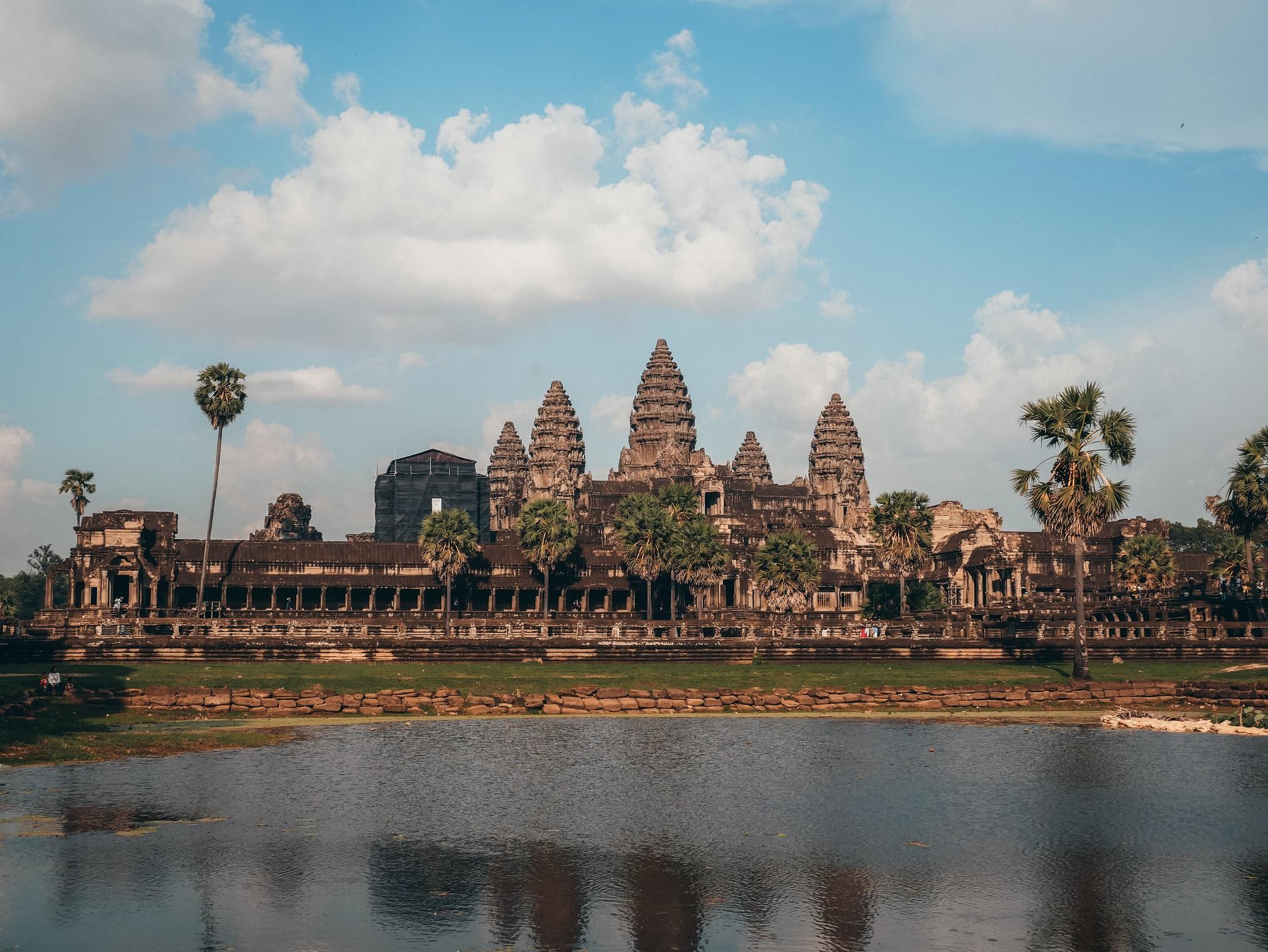 vistas del templo de Angkor Wat en Siam Reap