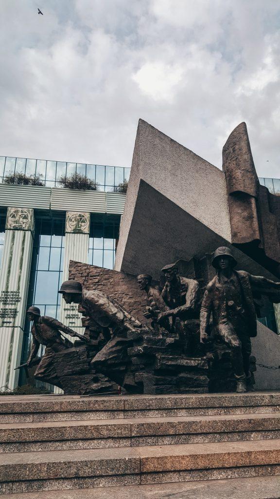 monumento del alzamiento de Varsovia en Polonia